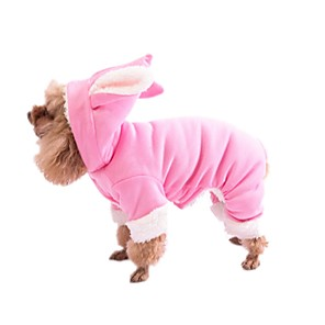 cheap Dog Clothes-Dog Hoodie Winter Dog Clothes Blue Pink Costume Terylene Cotton XS S M L XL