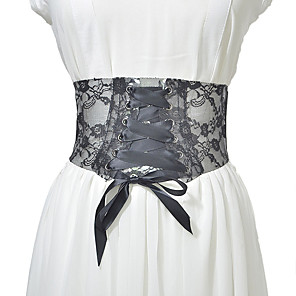 cheap Party Sashes-Metalic / Lace Wedding / Party / Evening Sash With Belt Women's Sashes