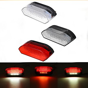 cheap Motorcycle Lighting-30 LED Motorcycle Tail Light ATV Rear Brake Stop Running License Plate Integrated