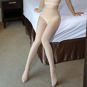 levne Syntetické paruky bez podložení-Dámské Punčoháče Tenké - Sexy / Krajka Rubínově červená Černá Béžová Jedna velikost