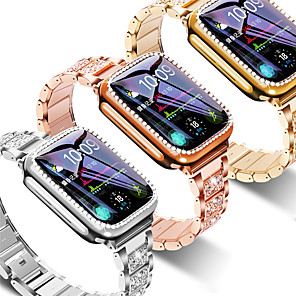 cheap Smartwatch Bands-Strap  Case Suitable for Apple Watch 40mm 44mm 38mm 42mm band for iwatch series 5 4 3 2 1 stainless steel diamond bracelet