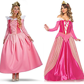 cheap Movie & TV Theme Costumes-Princess Sleeping beauty Aurora Dress Cosplay Costume Outfits Women's Movie Cosplay A-Line Slip Halloween Pink / Fuchsia Dress Headwear Halloween Carnival Masquerade Satin / Tulle Polyester