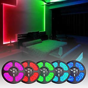 cheap LED String Lights-2x5M Flexible LED Strip Lights Light Sets RGB Tiktok Lights 300 LEDs SMD5050 10mm 1 12V 6A Adapter 1 24Keys Remote Controller 1 set Color-changing Waterproof APP Control Cuttable 85-265 V