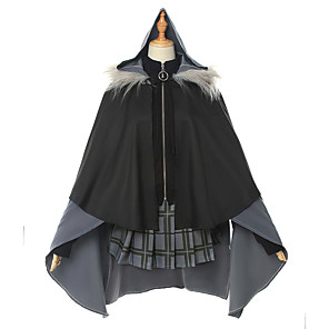 cheap Anime Costumes-Inspired by Cosplay Anime Cosplay Costumes Japanese Cosplay Suits Top Skirt Gloves For Women's / Socks / Cloak
