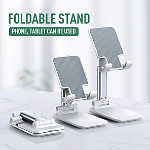 cheap Phone Mounts & Holders-Stylish Appearance Mobile Phone Support Desktop Live Tablet Support Folding Lifting Telescopic Metal Bracket For Xiaomi Huawei