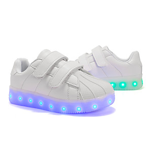 cheap Synthetic Lace Wigs-Boys' / Girls' Sneakers LED Shoes PU LED Shoes Little Kids(4-7ys) / Big Kids(7years +) Walking Shoes LED White / Black / Purple Spring / Fall / Striped