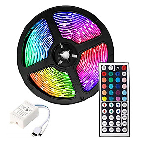 cheap iPhone Cases-ZDM 5M LED Strip Lights Waterproof RGB Tiktok Lights 300 x 2835 8mm Flexible and IR 44Key Remote Control  Linkable Self-adhesive Color-Changing