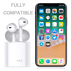 cheap Sleeves,Cases & Covers-I7s Tws Wireless Bluetooth Earbuds Handsfree In Ear Sports Headset with Charging Box For Smart Phone