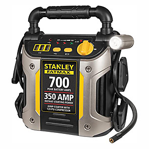 cheap Car Emergency Tools-Stanley Battery Maintainer 2 Silver-700 Peak Amplifier and Compressor Car Jump starter