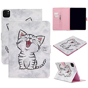 cheap iPad case-Case For Apple iPad Air / iPad 4/3/2 / iPad Mini 3/2/1 Wallet / Card Holder / with Stand Full Body Cases Cat PU Leather