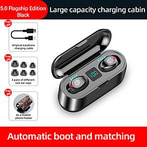 halpa TWS NTodelliset langattomat kuulokkeet-LITBest F9 TWS True Wireless Headphone Langaton Stereo Dual Drivers Latauslaatikko IPX5 Mobile Power älypuhelimiin Premium Audio -sovellukselle