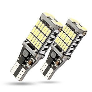 cheap Warning Lights-2PCS T15 W16W 1156 1157 45 SMD LED Car Backup Reverse Lights Bulb Turn Signal Lamps Canbus Error Free 800LM White
