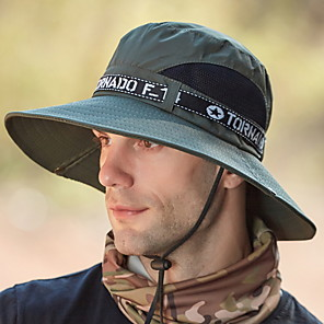 cheap Radio-Men's Basic Polyester Sun Hat - Floral Print All Seasons Army Green Black Navy Blue