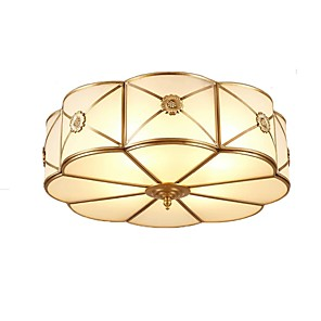 cheap Dimmable Ceiling Lights-QIHengZhaoMing 3-Light 35 cm Geometric Shapes Flush Mount Lights Metal Glass Brass Modern 110-120V / 220-240V