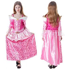 cheap Movie & TV Theme Costumes-Princess Sleeping beauty Aurora Dress Cosplay Costume Girls' Movie Cosplay A-Line Slip Halloween Pink Dress Halloween Carnival Masquerade Satin / Tulle