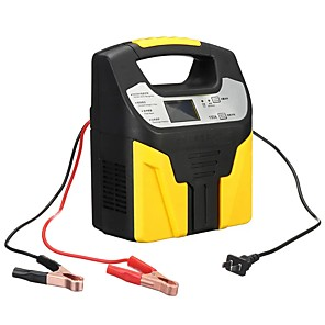 cheap Car Emergency Tools-12V/24V 15A Smart Car Motorcycle Battery Intelligent Charger LCD Pulse Repair Van Boat Bike