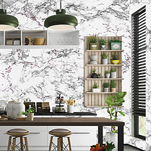 cheap Wall Stickers-Marble Pattern Self Adhesive Wallpaper 3D Waterproof Home Decor Wallpapers for Living Room Decorative Wall Stickers 45CM*100CM