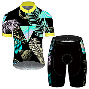 cheap Cycling Jersey & Shorts / Pants Sets-21Grams Men's Short Sleeve Cycling Jersey with Shorts Spandex Polyester Blue Oktoberfest Beer Bike Clothing Suit UV Resistant Breathable Quick Dry Sweat-wicking Sports Oktoberfest Beer Mountain Bike