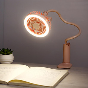 cheap Smart Novelty Lights-Creative Personality Mini Usb Charging Clip Shower Table Lamp Small Fan Student Fan Summer Portable Small Fan