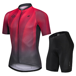 cheap Cycling Jersey & Shorts / Pants Sets-Nuckily Men's Short Sleeve Cycling Jersey with Shorts Black / Red Gradient Bike Sports Gradient Road Bike Cycling Clothing Apparel
