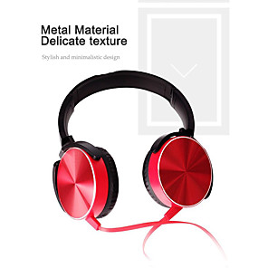 cheap On-ear & Over-ear Headphones-XB450 Wired Headphone Metal Heavy Bass Sound Quality Music Earphone with Mic