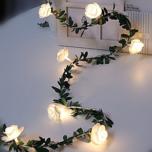 cheap LED String Lights-1.5M 10 LED EL String Lights Fairy Lights Outdoor Battery Operated Garland Christmas Decoration Party Wedding Xmas 1pc AA Batteries Powered