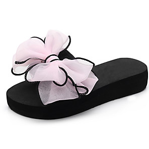 cheap Kids' Slippers-Girls' Comfort / Flower Girl Shoes EVA(ethylene-vinyl acetate copolymer) Slippers & Flip-Flops Flat Sandals Little Kids(4-7ys) / Big Kids(7years +) Walking Shoes Bowknot Black / Fuchsia / Pink Summer