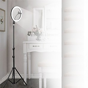 cheap Lenses-Photography Led Self Timer Ring Light 26cm Metal Dimmable Photography / Mobile Phone Ring Light With 210cm Tripod For Makeup Video Studio