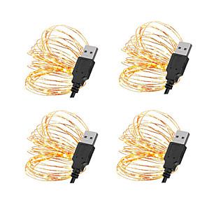 cheap LED String Lights-5m String Lights 50 LEDs SMD 0603 10pcs / 8pcs / 6pcs Warm White / White / Red Christmas / New Year's Waterproof / USB / Decorative USB Powered