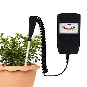 cheap Testers & Detectors-Portable Pointer type Soil PH Tester 2.5-9PH PH Measuring Instrument Tool for Plants Crops Flowers Vegetable Acidity Moisture