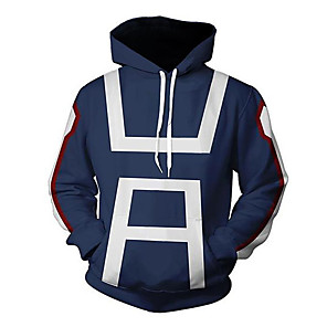 cheap Everyday Cosplay Anime Hoodies & T-Shirts-Inspired by My Hero Academia Boko No Hero Bakugou Katsuki Cosplay Costume Hoodie Polyster Print Printing Hoodie For Men's / Women's