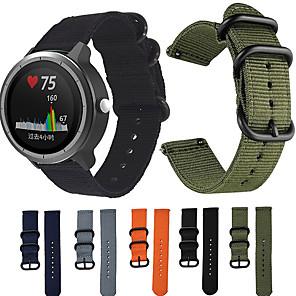cheap Smartwatch Bands-Nylon Canvas Strap for Garmin Vivoactive 3 / Vivoactive 3 Music  Nylon Replacement Wristband Smart Bracelet for Garmin Vivoactive 3 / Vivomove HR / Forerunner 245 / 245M