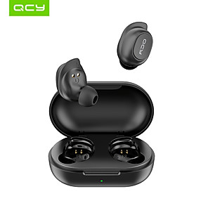 cheap TWS True Wireless Headphones-QCY T9S TWS Stereo Wireless Earbuds Mini Bluetooth Earphones Waterproof IPX4 Auto Pairing Headphones