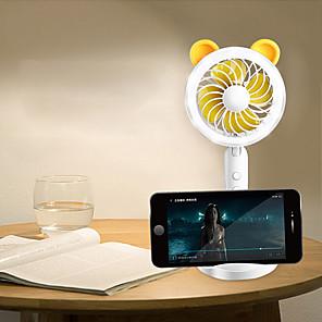 cheap Smart Novelty Lights-Mini Fan Desktop Cartoon Small Mini Cool Practical Fan Night Light for Home School Office
