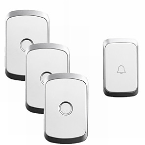 cheap Doorbell Systems-CACAZI A20 Home Security Wireless Music Doorbell Kit Waterproof AC 110-220V 300M Remote Wireless Door Bell 1 Button 3 Receivers