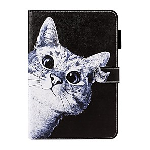 cheap iPad case-Case For Apple iPad Air / iPad Mini 3/2/1 / iPad Mini 4 Wallet / Card Holder / with Stand Full Body Cases Cat PU Leather