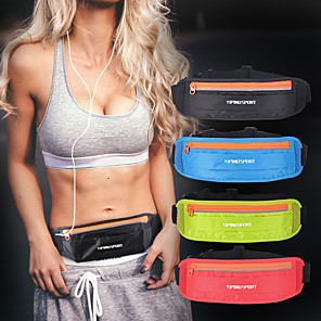 cheap Running Bags-Running Belt Fanny Pack Belt Pouch / Belt Bag for Running Hiking Outdoor Exercise Traveling Sports Bag Reflective Adjustable Waterproof Nylon Men's Women's Running Bag Adults
