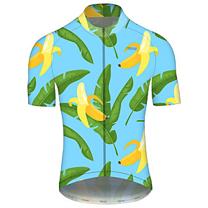 cheap Cycling Jerseys-21Grams Men's Women's Short Sleeve Cycling Jersey Spandex Polyester Green Gradient Bike Jersey Top Mountain Bike MTB Road Bike Cycling UV Resistant Breathable Quick Dry Sports Clothing Apparel