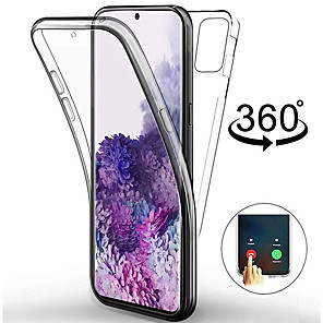 cheap Other Phone Case-360 Double Full Body TPU Case For Samsung Galaxy S20 Ultra S20 Plus A51 A71 A91 A81 A41 A01 A60 A20e Transparent Clear Soft Silicone Case Cover