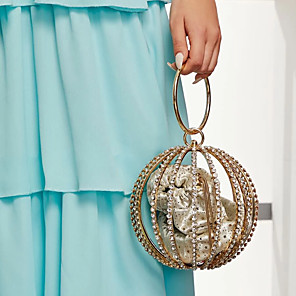 cheap Clutches & Evening Bags-Women's Alloy Evening Bag Solid Color Gold