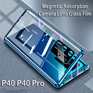 cheap Huawei Case-Magnetic Adsorption Tempered Glass Double Sided Case For Huawei P40 / P40 Pro / P40 Lite Coque 360 Protective Cases for Huawei Mate 30 / Mate 30 Pro / Mate 20 / Nova 7i / Nova 6 / P30 / P30Pro