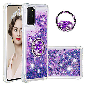 cheap Samsung Case-Case for Samsung scene graph S20 S20 Plus S20 Ultra A51 A71 glitter powder sand four corners drop-resistant diamond ring bracket all-inclusive mobile phone case YB