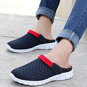 cheap Men's Slip-ons & Loafers-Men's Summer Outdoor Sandals Mesh / PU Non-slipping Green / Blue / Black