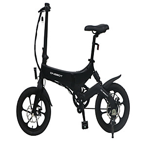 cheap Smartphones-[EU Direct] ONEBOT S6 Portable Folding Electric Moped Bicycle 36V 250W 3 Modes Folding Electric Bike Moped 25km/h Top Speed Max Load 120kg Electric Bicycle E-bike Only Blcak In Stock