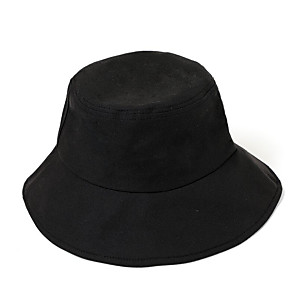 cheap Latin Shoes-Men's Bucket Hat Polyester Basic - Color Block Fall Black