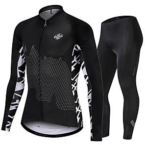 cheap Cycling Jersey & Shorts / Pants Sets-Nuckily Men's Long Sleeve Cycling Jersey with Tights Black Discovery Bike Sports Discovery Road Bike Cycling Clothing Apparel