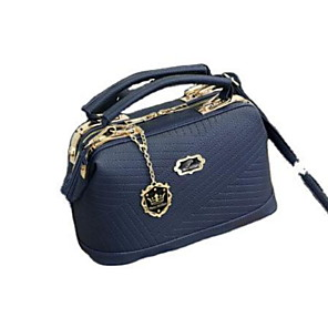 cheap Handbag & Totes-Women's Bags PU Leather Top Handle Bag Zipper for Daily Wine / Black / Blue