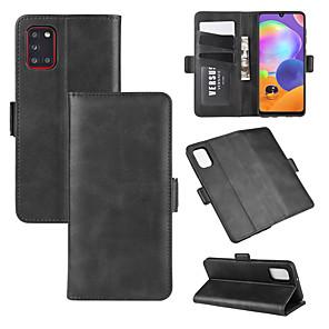 tanie Akcesoria Samsung-do telefonu Samsung Galaxy A71 / A51 / A31 / A21 Stojak na portfel Skórzany pokrowiec na telefon komórkowy z portfelem& uchwyt& gniazda kart