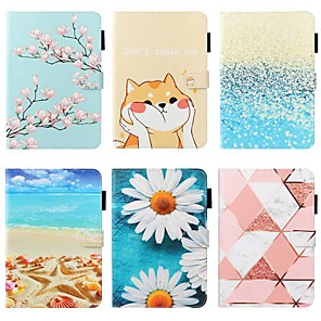 cheap iPad case-Case For Apple iPad 10.2 / iPad Mini 3/2/1 /Mini 4/5 Wallet / Card Holder / with Stand Full Body Cases Scenery / Flower PU Leather For iPad Pro 9.7/New Air 10.5 2019/Air 2/2017/2018