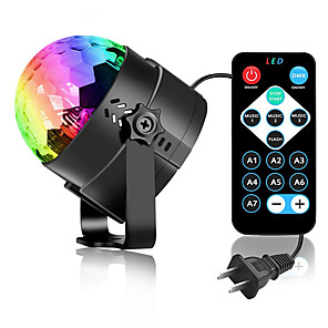 cheap Stage Lights-Round Ambinet Light LED Night Light / Night Light Remote Controlled / Creative / Stage Disco Remote Control Halloween / Christmas AC Powered 1 set